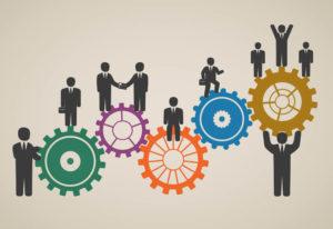ilustração de uma engrenagem, fazendo referência ao tema 5 dicas para estimular a motivação no trabalho.