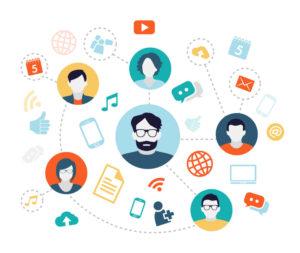 ilustração de um fluxograma com rostos e objetos fazendo alusão como fazer a gestão de pessoas de forma eficiente.
