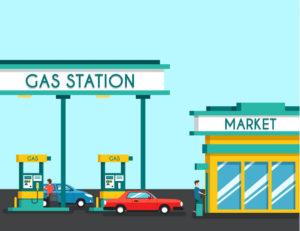 imagem de um posto de gasolina cheio, ilustrando o tema, como fidelizar clientes para o seu posto de gasolina.